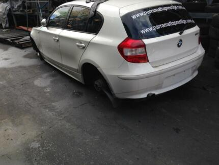 BMW 120I E87 COMPLETE CAR WHITE 5 DOOR HATCH BACK BMW E87 PARTS North Parramatta Parramatta Area Preview