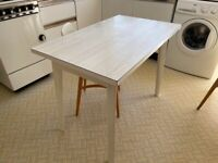 White 100x60cm Dining Table - Good Condition