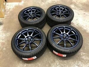"18"" Fast Staggered Wheels 5x114.3 and Performance Summer Tires (Japanese Cars)  **AUGUST BLOWOUT SALE** Calgary Alberta Preview"