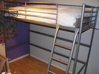 Bunk bed, single, metal, IKEA.
