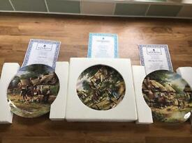 Royal Doulton and Wedgwood collectible plates