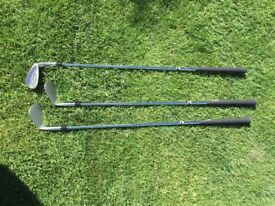 Adams golf Tom Watson Classic Grind Gap wedge, Sand wedge and Lob wedge.