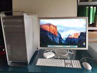 2010 Apple MAC PRO A1289 + Apple Display - EIGHT CORE - 8x 2.26ghz / 2TB + 640GB / 6GB + EL CAPITAN