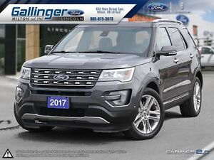 2017 Ford Explorer LIMITED w/TWIN PANEL MOONROOF AND 20 INCH WHE