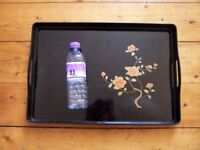 Vintage Chinese Lacquered Serving Tray