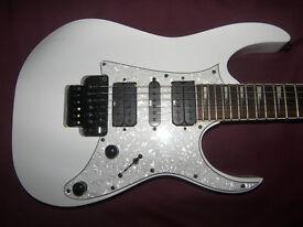 Ibanez RG-350DXZ / RG350DXZ-WH (White) Electric Guitar + Gig Bag.