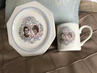 Commemorative plate and mug