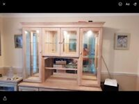 Beautiful dining room/living room wall unit with display cases