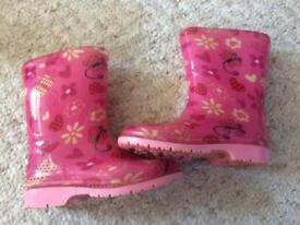 Floral wellies infant size 6