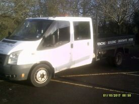 Ford Transit T350 LWB DOUBLE CREW UTILITY CAB TIPPER 2.4 NEW SHAPE.