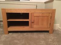 Solid oak TV/entertainment stand