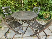Garden Table and Chairs. Outdoor furniture.