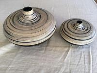 2 Ceramic Vase Set