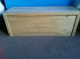 Wooden storage box seat for toys or linen - IKEA