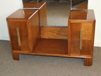 GOLDEN OAK ART DECO DROPWELL DRESSING TABLE FREE DELIVERY EDINBURGH GLASGOW TAYSIDE FIFE AREAS