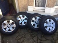 Nissan Pathfinder/Navara D40 17inch Alloy Wheels With Tyres Set Of 4