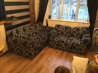 3 and 2 seater settees for sale used but in good condition