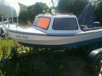 Dijon 14ft fishing boat and trailer