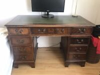 Antique / Vintage Style Solid Wood Desk with Drawers
