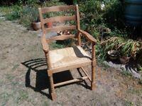 Lovely beech wood ladder back chair