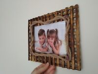 Wooden photo frame with stand