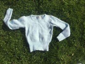 WOMENS TOPSHOP MOHAIR CROP TOP CROPPED LONG SLEEVE SOFT BABY PALE BLUE JUMPER SIZE 12 10 8 AGE 15-16