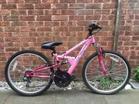 Girls Pink Apollo Mountain bike