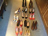 SELECTION OF SIZE 4 SHOES/BOOTS. MONEY for local cancer charity funds thanks Jack/Louise.