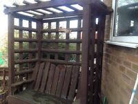 GARDEN ARBOUR FOR SALE IN GOOD CONDITION HOUSE MOVE FORCES SALE EASY TO DISMANTLE