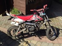 125cc Pitbike - Manual 4 Gears - £280 ONO Cash only