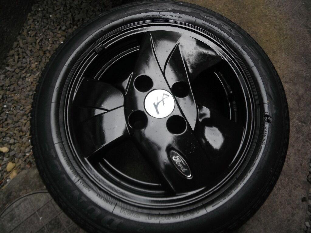Set  Ltd Editionford Ka  Inch Stunning Alloy Wheels Black