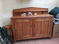 Fabulous heavy vintage pine sideboard, perfect for a Annie Sloan makeover.