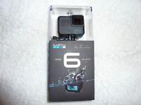 Gopro Hero 6 Black NEW sealed, 4K 60fps,