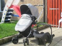 Mothercare spin travel system with car seat