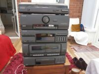 Pioneer stacker stereo system in very good condition great sound