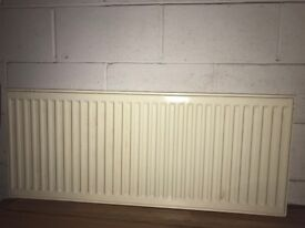 white radiator single panel for central heating 1100mm x 500mm