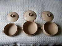 3 Denby 'Memories' Casserole Dishes 1970s Vintage China