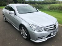 2013 Mercedes E-Class 250CDI AMG Sport 207BHP Coupe S/S BLUEEF-CY 1yrs Mot 6mth warranty