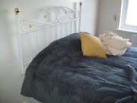 Double Bed Two Draws and Metal Headboard