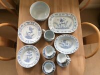 "Beautiful Rorstrand Swedish Porcelain, ""Blue Bird"" (Fagel Bla) Series"
