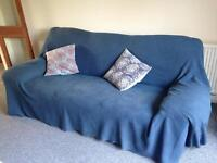 3 Seater sofa (including throw)