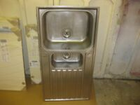 1.5 bowl stainless steel sink.