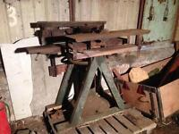 Vintage table saw with plank thicknesser and planer.