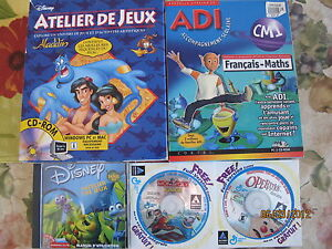 Plusieurs jeux et logiciels d'ordinateur PC