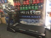 "Sole F63 Folding Indoor Treadmill Running Machine 6.5"" LCD Display Model"