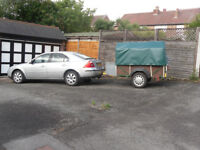 Car trailer 2x1x0.5meters with tailboard, and leaf springing
