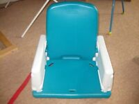 DINING TABLE BOOSTER SEAT by EARLY YEARS easy 2 wash / adjustable / easy to take apart REDUCED to £3