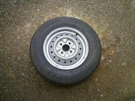 Caravan Wheel and New Tyre
