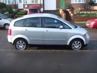 SORRY CAR SOLD 2005 AUDI A2 1.4 SPECIAL ADDITION 5 DOOR MET SILVER MOT MAY 2007 DRIVES GREAT