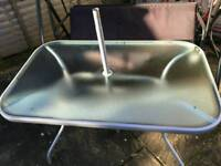 6 seater garden table 6 folding metal chairs